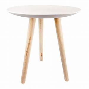 Beistelltisch Rund Weiß Holz : beistelltisch wei holzbeine energiemakeovernop ~ Bigdaddyawards.com Haus und Dekorationen