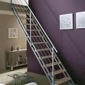 Rampe D Escalier Moderne : rampe d 39 escalier et escalier bois alu quart tournant c t maison ~ Melissatoandfro.com Idées de Décoration
