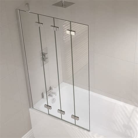 curved curtain rods for corner 4 panel semi frameless folding bath screen folding bath
