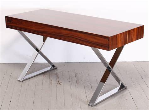 milo baughman rosewood desk rosewood and chrome desk by milo baughman at 1stdibs