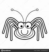 Cricket Cartoon Coloring Bugs Bug Drawing Illustration Toddle Getdrawings Depositphotos sketch template