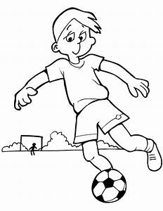 A Boy Playing Football Black And White - ClipArt Best