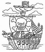 Pirate Coloring Pirates Pages Caribbean Treasure Chest Ship Printable Lego Boat Schooner Sheet Drawing Adults Line Colouring Colorings Sheets Getcolorings sketch template