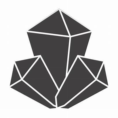 Crystal Vector Rock Clip Illustrations Icon Mineral