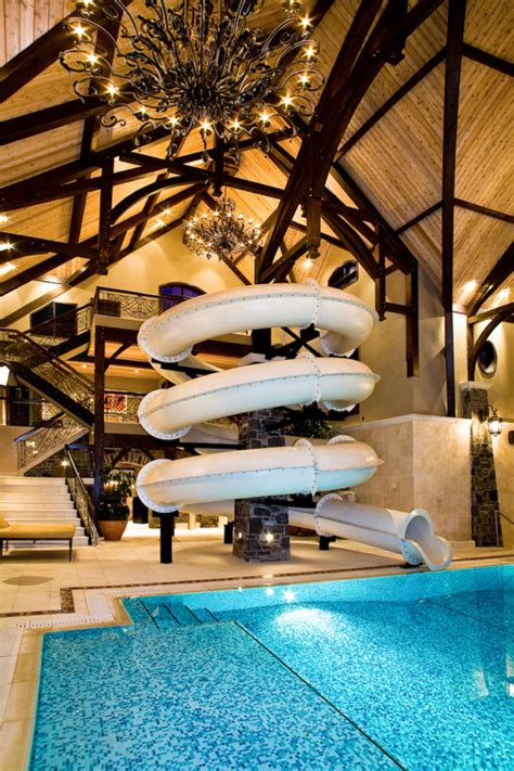 amazing story indoor swimming pool water rock climbing wall homes rich