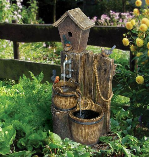 enchanted garden 38 quot feathered friends tiered water