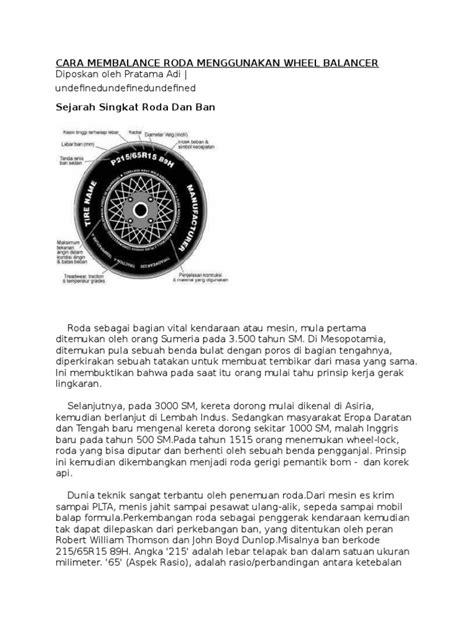 membalance roda menggunakan wheel balancer