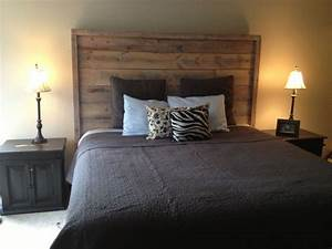 reclaimed barn wood headboard our completed projects With barn walls headboards