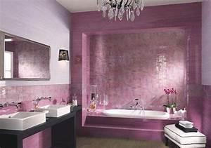 Bathroom design with color purple model home interiors for Interior design pink bathrooms