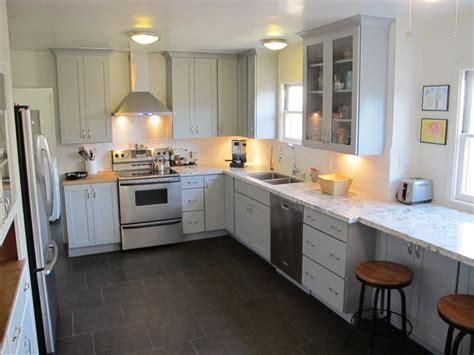 Cool Gray Blue Kitchen