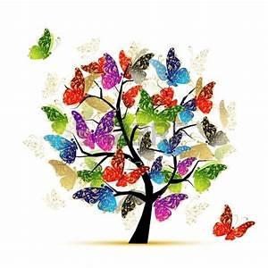 Art De Vie : art arbre papillons pour votre conception bijoux image ~ Zukunftsfamilie.com Idées de Décoration
