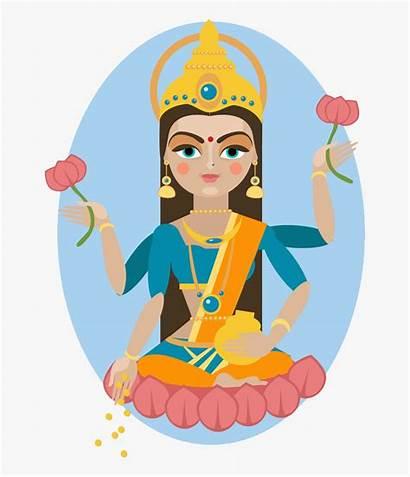 Lakshmi Puja Goddess Maha Cartoon Transparent Clipart
