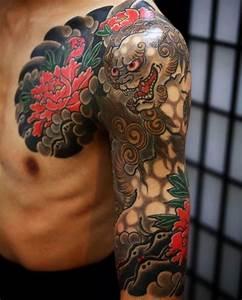 15+ [ Traditional Foo Dog Tattoo Designs ] | Drawn Wave ...