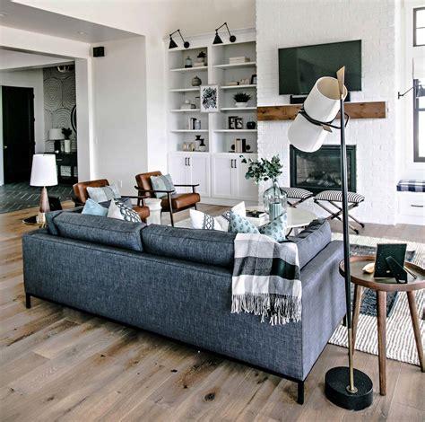 Mediterranean Kitchen Ideas - modern farmhouse style in utah features stylish living spaces