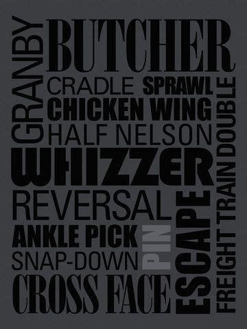 zipsty wrestling words poster wrestling posters