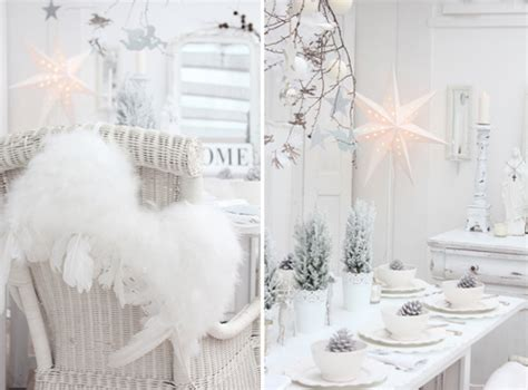 indoor winter wonderland white shabby chic christmas