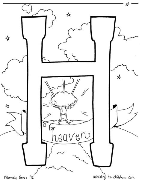 heaven coloring page