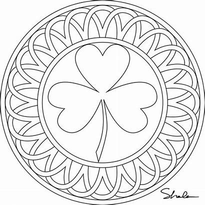 Shamrock Coloring Pages Printable March Eat Sheets
