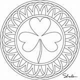 Shamrock Coloring Pages Printable Box Eat March Sheets Clover Adult Template Tea Don Shamrocks Paste Adults Mandalas Mandala Celtic Patricks sketch template