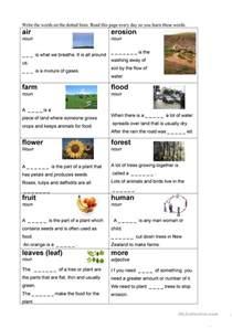 Esl Vocabulary Worksheets 36 Free Esl Plant Worksheets
