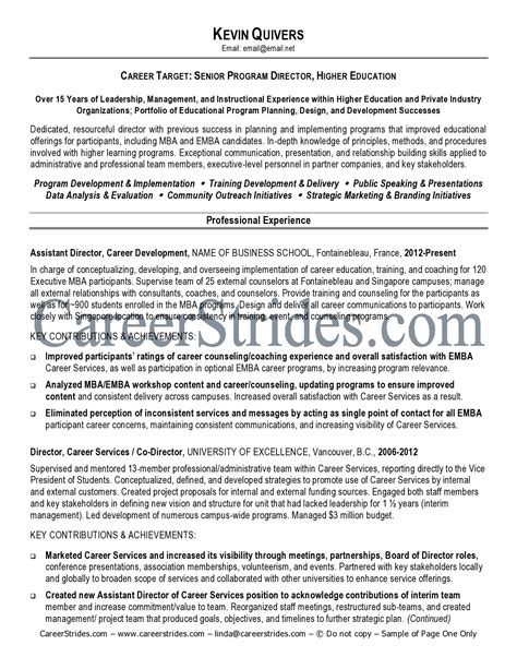 Education Administration Resume Objective Exles by Resume Sles Higher Education Check Paper For Plagiarism Free Application Letter To