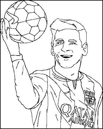 Messi Soccer Player Coloring Pages