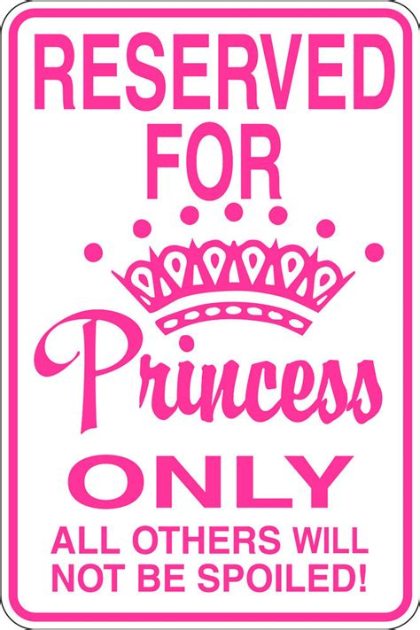 funny reserved  princess  sign  kids