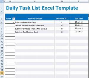 daily task list excel template xls microsoft excel templates With template for daily tasks