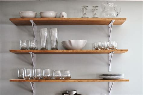 wall mounted shelving kitchen wall shelves ideas diy
