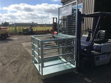 fwp forklift work platform safety cage  bay forks