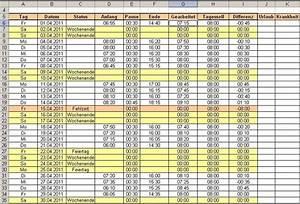 Excel Tabelle Summe Berechnen : excel arbeitszeit berechnen bei schwankender pausenzeit office ~ Themetempest.com Abrechnung