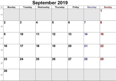 blank september  calendar  printable images