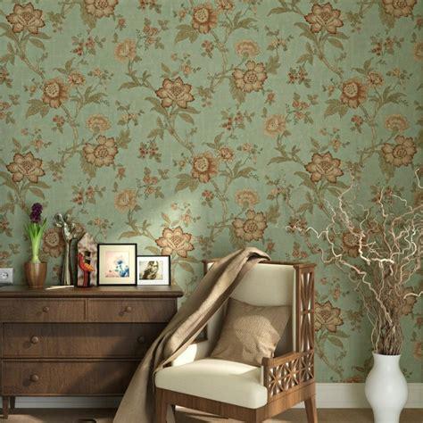 blooming wall vintage flower trees wallpaper wall mural