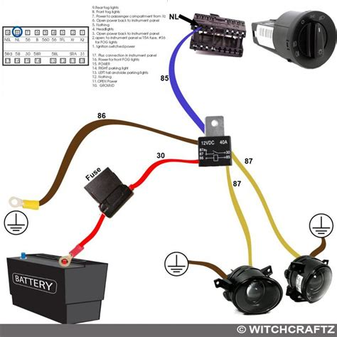 Fog Light Harness Wiring Diagram Tools Automobil