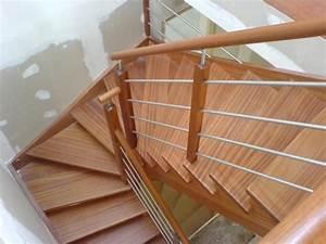 Escalier En U : escalier tiges en inox et cremaillere ~ Farleysfitness.com Idées de Décoration