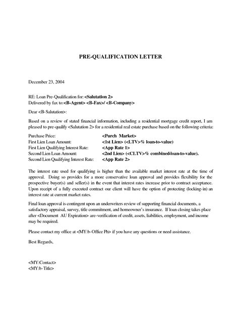 pre qualification letter december re loan pre qualification vn p osn