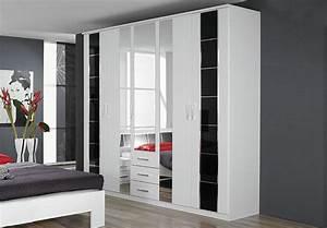 Kleiderschrank Schwarz Weiß : aarau kleiderschrank schwarz wei schwarz hochglanz chrom ~ Orissabook.com Haus und Dekorationen