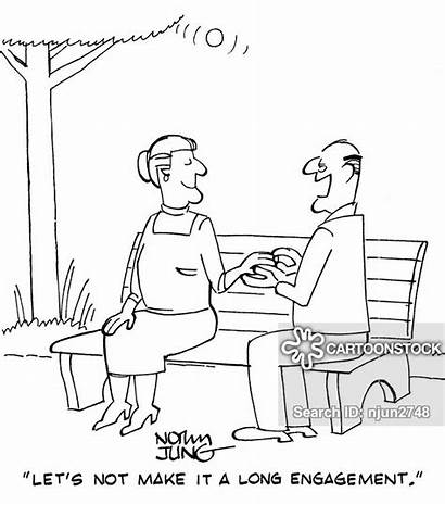 Engagement Cartoon Cartoons Periods Funny Senior Citizen