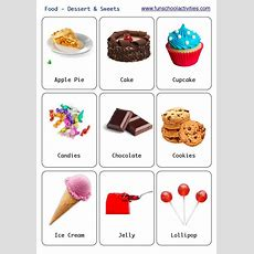 Printable Desserts And Sweets Flashcards  Flashcards  Pinterest  Sweet, Desserts And Flashcard