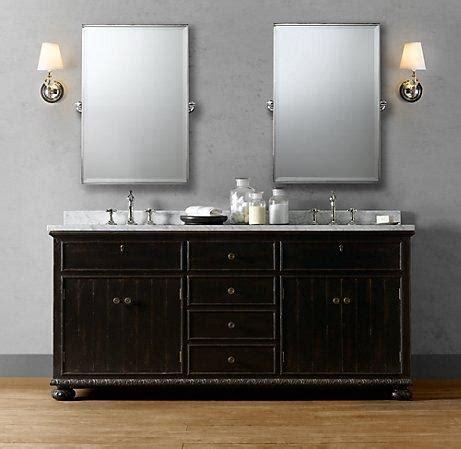 french empire double vanity sink double vanities