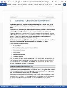 Software requirements specification template for Srs software requirement specification template
