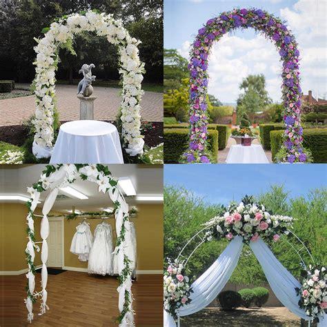 Garden Decoration Items by New 7 5 Ft White Metal Arch Wedding Garden Bridal
