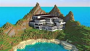 Modern Mansion – Cliff Side Escape – Minecraft Building Inc