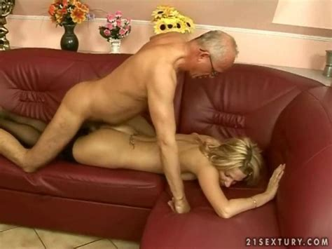 Horny Teen Enjoys Real Rough Sex With A Lusty Grandpa On