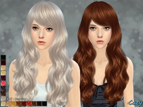 sims  hairs  sims resource sorrow hairstyle  cazy