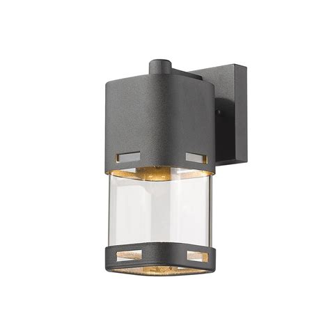 led wall sconce filament design noya 60 watt equivalent outdoor black