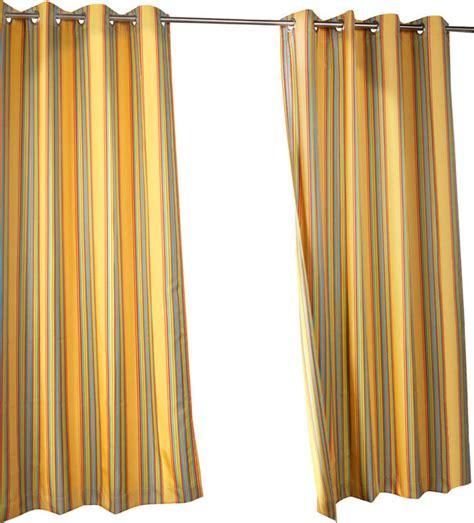 outdoor stripe grommet top curtain panel rainbow 50x84