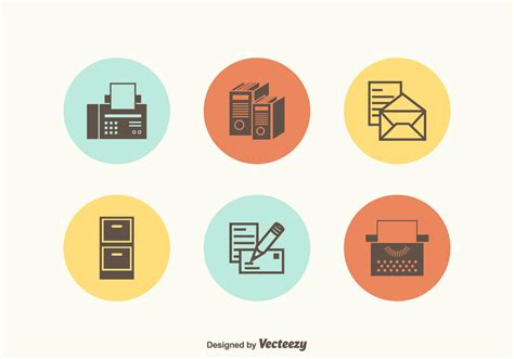 Office Supplies Vector by Free Retro Office Supplies Vector Icons Free