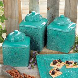 western kitchen canister sets turquoise canister set 3 pcs