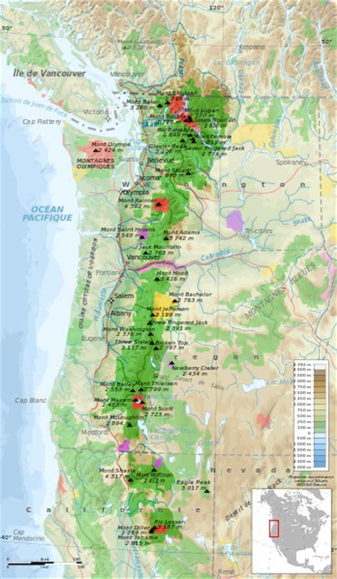 cascade mountain range map file cascade range protected areas map fr svg